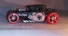 Hot Wheels Bone Shaker Hotwheels RED Team (Red Wheels)  Black Car LOOSE  B9