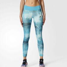 Abbigliamento sportivo da donna leggings blu poliestere