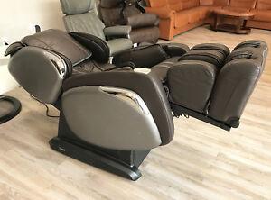 Brown Osaki OS-4000 CS Zero Anti Gravity Massage Chair Recliner Warranty + Heat