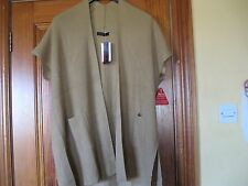 So Fabulous Beige Tan Ribbed Long Cardigan Size 14-16  Brand New with Tags