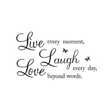 "LIVE LAUGH LOVE"" Wall Quote Stickers Removable Vinyl Decal Home Art Decorat N1P7"