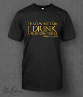 Game of Thrones T-Shirt I Drink And I Know Things MEN'S Tyrion Lannister Quote