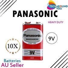 10x Panasonic Heavy Duty 9V Magnesium  battery 6F22ND 1S Toy alarm long life