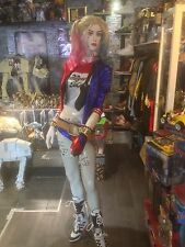 HARLEY QUINN COSPLAY Monster T-Shirt & Wig/Hair Suicide Squad Movie Batman Fancy