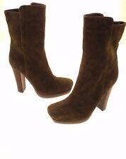 Dollhouse Women's Suede Upper Mid Calf Platform Boots Side Zip Size 7.5