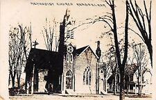 Indiana real photo postcard RPPC Rensselaer, Methodist Church