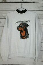 Vintage Rottweiler Dog 80s 90s Large Graphic Unisex Crewneck Sweatshirt Sweater