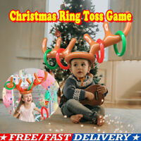 Christmas Inflatable Reindeer Antler Hat Ring Toss Game Xmas Toys Moose Props US