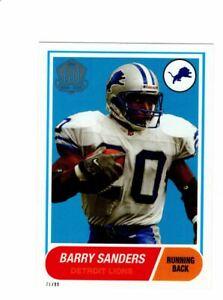 2015 Topps Barry Sanders Detroit Lions 60th Anniversary 5x7 Jumbo Card xx/99