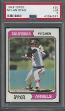 PSA 7 - 1974 Topps # 20 Nolan Ryan California Angels HOF (B) (40694597)