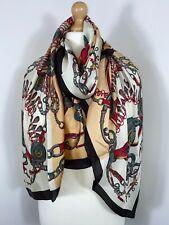 Silk Scarf Pashmina Black Gold 30% Silk Soft Silky Oversized Rectangle Long Glam