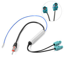 Car Radio Antenna Audio Signal Amplifier Booster Cable Dual Fakra Aerial Adap YH