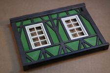 Playmobil Ritter Ritterburg Fachwerk Schneiderei grün Wand mit Fenster #10608