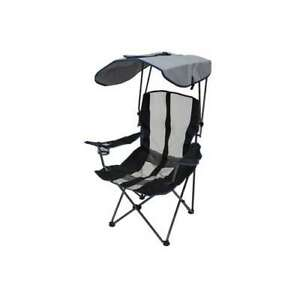Kelsyus Premium 50+ UPF Camping Folding Lawn Chair with Canopy, Navy (Used)
