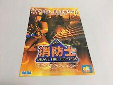 Shouboushi Brave Fire Fighters arcade flyer handbill Japan Sega Hikaru
