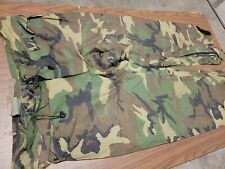 Mens Military Camo  BDU Rain Pants Cold Weather Size Large overpants Free Ship