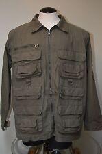 Woolrich Mens Field Hunting Jacket Coat Large Green Sleeves Zip to Vest Zambezi