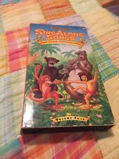 "VHS Version of Disney Sing Along Songs ""The Bare Necessities"" volume 4"
