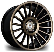 "18"" Stuttgart ST2 Alloy Wheels Black Bronze 5x112 fits VW Golf 5 6 7"