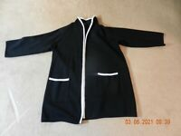 Alfani Women's Plus Fuzzy Trim Sweater Cardigan Jacket Wool Black Size 2X