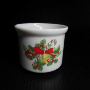 Céramique porcelaine récipient bol miniature blanc Noël art déco Japon N7304