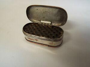 Scarce antique silver plated on copper nutmeg grater.