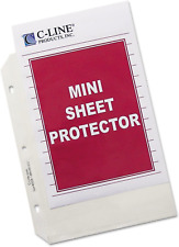 C Line Top Loading Heavyweight Poly Sheet Protectors Clear Mini Size 85 X 5