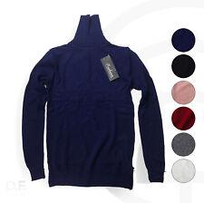 Damen Strick Pullover Pulli Rollkragen Sweater Cotton Kaschmir Winter Sweatshirt
