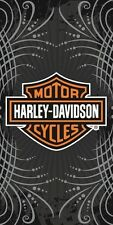 Harley Davidson Motorcycle Gray Vibe Bath, Pool, Beach Towel 30X60 LICENSED!