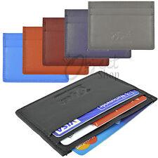 Cuero de calidad de crédito tarjeta titular Cartera Slip Tarjeta De Viaje Funda porciones de colores