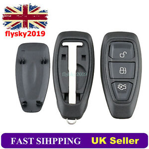 3 Button Smart Key Fob Shell For Ford Focus Fiesta Mondeo Kuga C-Max B-Max S-Max
