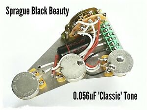 Fender Stratocaster wiring harness loom upgrade kit - Sprague Black Beauty