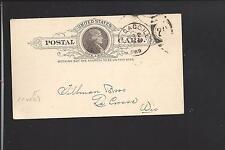 "CHICAGO,ILLINOIS 1889 GOVERNMENT POSTAL CARD, ADVT  ""THE UNION WIRE MATTRESS CO."