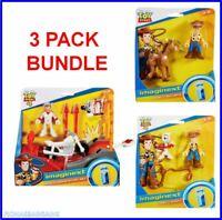 NEW Imaginext Toy Story 3 Pack - Woody Forky Bullseye Duke Caboom Stunt Set