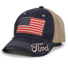 Ford Hat American Flag USA Navy - Khaki