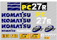 KOMATSU PC27R DIGGER DECAL STICKER SET