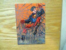 1995 DC VS MARVEL CARD # 25 SUPERBOY SIGNED CHRIS BATISTA ART, WITH POA