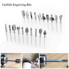 20x HSS Engraving Router Drill Bits Carbide Burr Set Dremel Rotary Grinder Tools