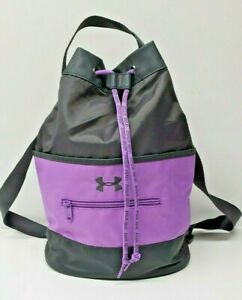 Underarmour Backpack Purple Black Nylon Drawstring Bag