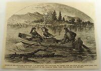 1879 magazine engraving ~ ESCAPE OF THE CHEVALIER JAMES JOHNSTONE