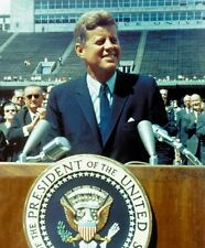 JOHN F KENNEDY RICE UNIVERSITY SPEECH JFK 8X10 GLOSSY PHOTO PICTURE