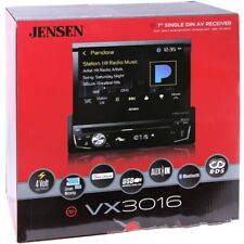 "Jensen VX3016 1-DIN In-Dash DVD/CD/AM/FM Car Stereo w/ Bluetooth 7"" Flipout NEW"