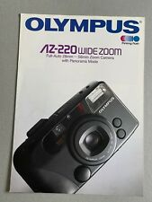 Olympus AZ-220 zoom 35mm Camera, A4 Paper Brochure, 8 Pages, 1991