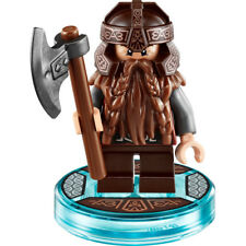 Lego DIMENSIONS minifig GIMLI divided from 71220 The Lord of the Rings +axe +tag