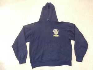NYPD New York Police Dept blue hoodie top adult size