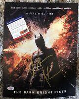 CHRISTIAN BALE Batman Dark Knight SIGNED Autographed 11x14 PHOTO PSA/DNA COA