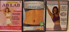 3 abs core workout exercise fitness DVD lot the Unleashed Body Heidi T ab lab
