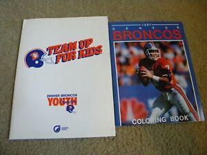 1987 Denver Broncos Coloring Book Good Shape  John Elway Promo Vintage NEW!