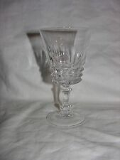 Vintage Cut Glass/Crystal Water or Wine Goblets ~ Diamond Cut 1970's