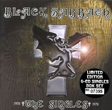 💿-BLACK SABBATH-COMPLETE REMASTERED/NUMBERED 6CD SINGLES USED BOX SET. CASTLE!